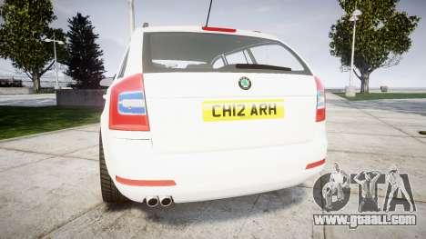 Skoda Octavia vRS Combi Unmarked Police [ELS] for GTA 4 back left view
