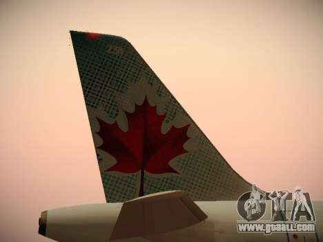 Airbus A320-214 Air Canada for GTA San Andreas interior