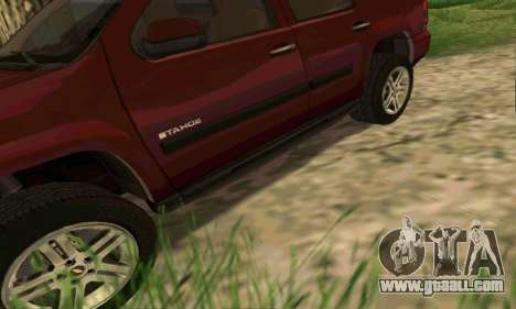 Chevrolet Tahoe Final for GTA San Andreas interior