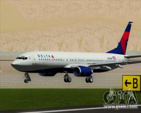 Boeing 737-800 Delta Airlines for GTA San Andreas left view