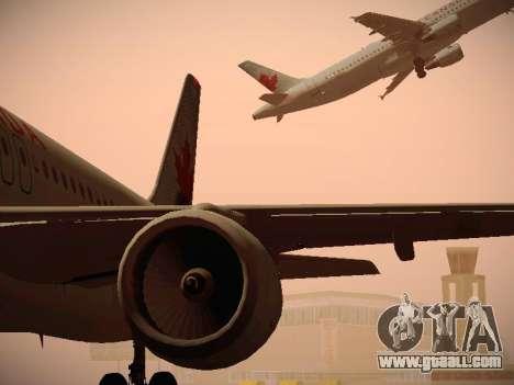 Airbus A320-214 Air Canada for GTA San Andreas bottom view