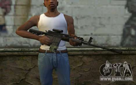 M4A1 from COD Modern Warfare 3 for GTA San Andreas third screenshot