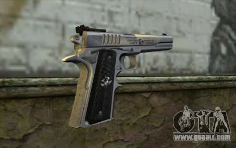 Colt 1911 Silverballer for GTA San Andreas second screenshot