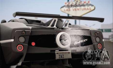 Pagani Zonda 760RS for GTA San Andreas left view
