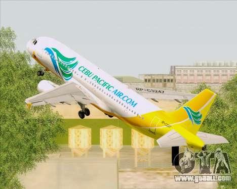 Airbus A320-200 Cebu Pacific Air for GTA San Andreas