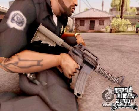 M4A1 BF4 for GTA San Andreas forth screenshot