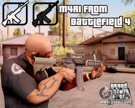 M4A1 BF4 for GTA San Andreas third screenshot