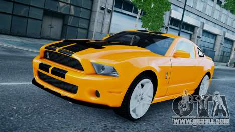 Ford Shelby Mustang GT500 2011 v1.0 for GTA 4