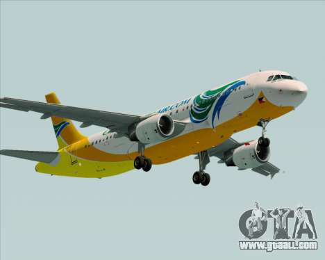 Airbus A320-200 Cebu Pacific Air for GTA San Andreas right view