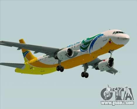 Airbus A320-200 Cebu Pacific Air for GTA San Andreas right view