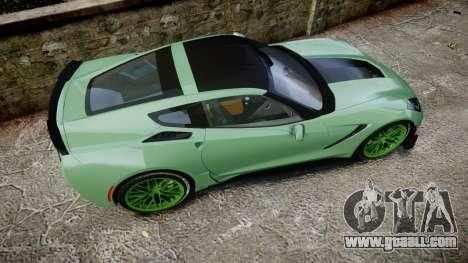 Chevrolet Corvette Z06 2015 TireCon for GTA 4 right view