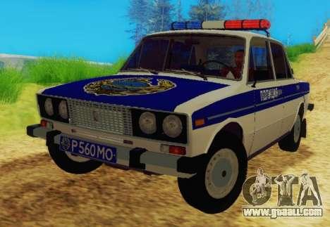 VAZ-2106 Police for GTA San Andreas