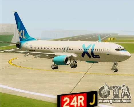 Boeing 737-800 XL Airways for GTA San Andreas left view