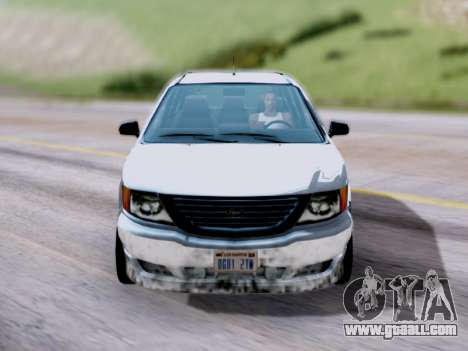 GTA V Minivan for GTA San Andreas right view