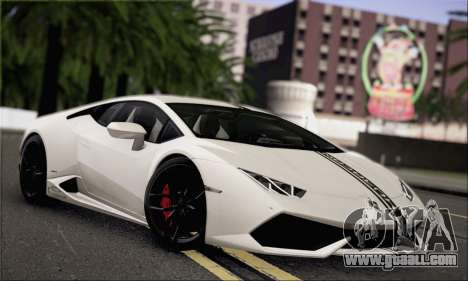 Lamborghini Huracan LP610-4 2015 Rim for GTA San Andreas upper view