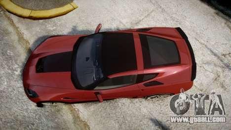 Chevrolet Corvette Z06 2015 TirePi2 for GTA 4 right view