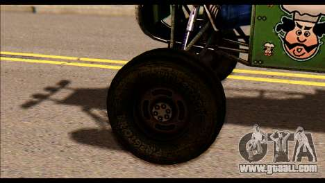 Buggy Fireball from Fireburst PJ for GTA San Andreas back left view