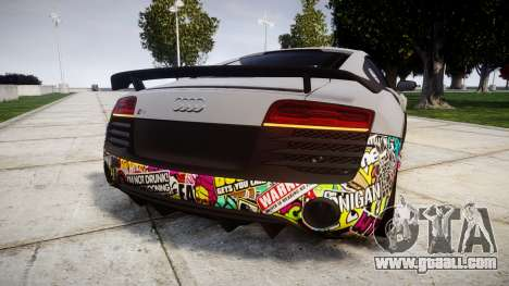 Audi R8 LMX 2015 [EPM] Sticker Bomb for GTA 4 back left view