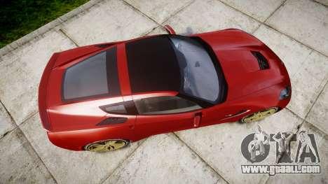 Chevrolet Corvette C7 Stingray 2014 v2.0 TireBFG for GTA 4 right view