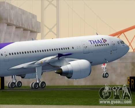 Airbus A300-600 Thai Airways International for GTA San Andreas interior