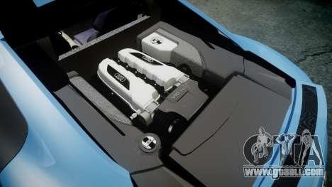 Audi R8 V10 Plus 2013 Vossen VVS CV3 for GTA 4 side view
