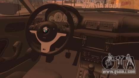 BMW M3 E46 Sedan for GTA San Andreas back left view