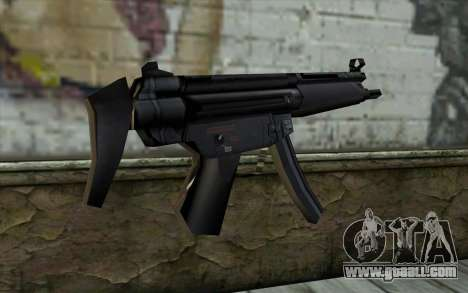 Retextured MP5 for GTA San Andreas second screenshot