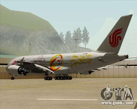 Airbus A380-800 Air China for GTA San Andreas upper view