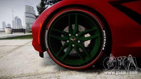 Chevrolet Corvette C7 Stingray 2014 v2.0 TireBr2 for GTA 4 back view