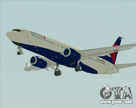 Boeing 737-800 Delta Airlines for GTA San Andreas bottom view
