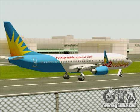 Boeing 737-800 Jet2Holidays for GTA San Andreas bottom view