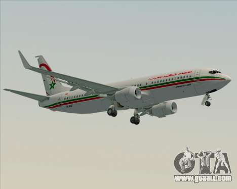 Boeing 737-8B6 Royal Air Maroc (RAM) for GTA San Andreas back left view