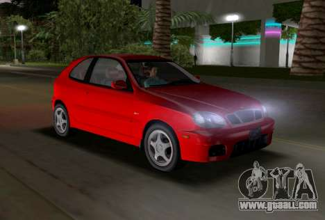 Daewoo Lanos Sport US 2001 for GTA Vice City inner view