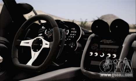 Pagani Zonda 760RS for GTA San Andreas back left view