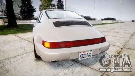 Porsche 911 (964) Coupe for GTA 4 back left view