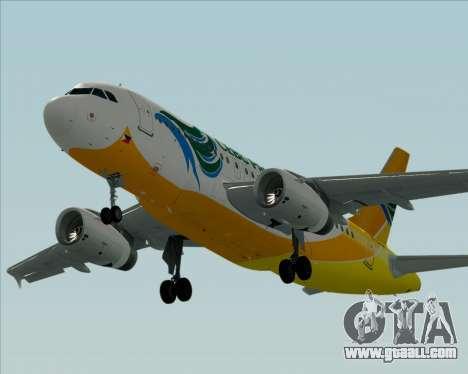 Airbus A319-100 Cebu Pacific Air for GTA San Andreas side view