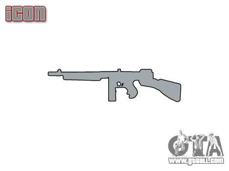 Submachine gun Thompson M1A1 box icon1 for GTA 4 third screenshot