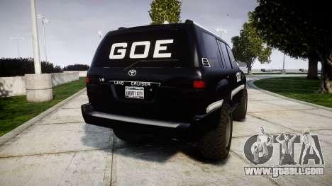 Toyota Land Cruiser 100 GOE [ELS] for GTA 4 back left view