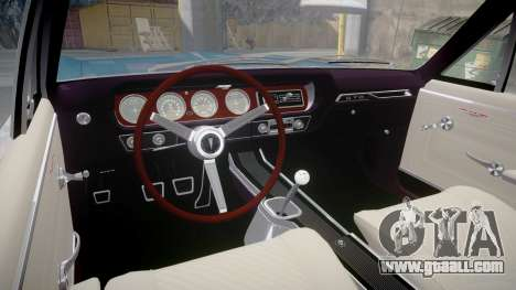 Pontiac GTO 1965 for GTA 4 inner view