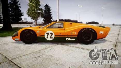 Ford GT40 Mark IV 1967 PJ Mudino 72 for GTA 4 left view