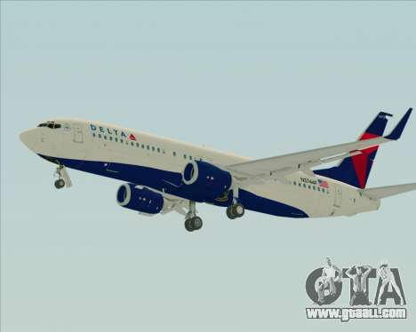 Boeing 737-800 Delta Airlines for GTA San Andreas back left view