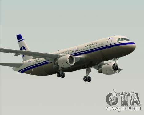 Airbus A320-200 CNAC-Zhejiang Airlines for GTA San Andreas right view