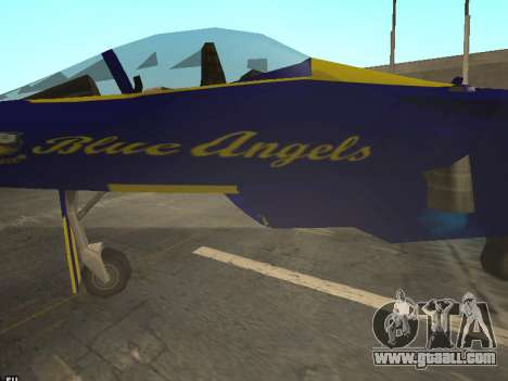 BlueAngels Hydra for GTA San Andreas back view