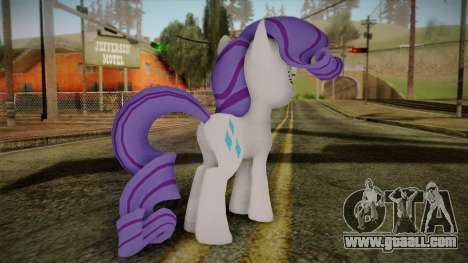 Rarity from My Little Pony for GTA San Andreas second screenshot
