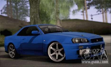 Nissan Skyline R34 for GTA San Andreas