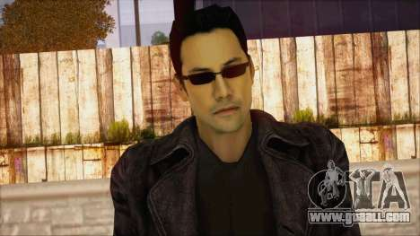 Neo Matrix Skin for GTA San Andreas third screenshot