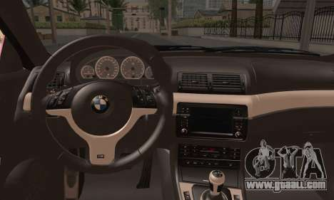 BMW M3 E46 StanceWork for GTA San Andreas