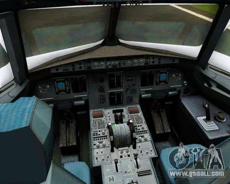 Airbus A320-200 Cebu Pacific Air for GTA San Andreas interior