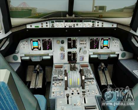 Airbus A320-200 CNAC-Zhejiang Airlines for GTA San Andreas interior