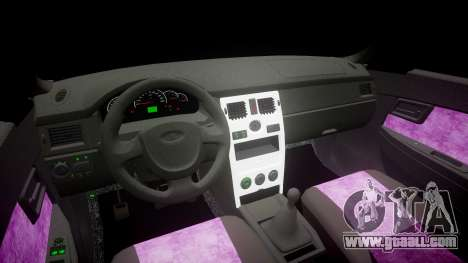 ВАЗ-2170 Installed Prioress Quality v2.0 for GTA 4 inner view